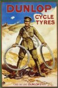 Vintage Dunlop cycle tyres Poster.